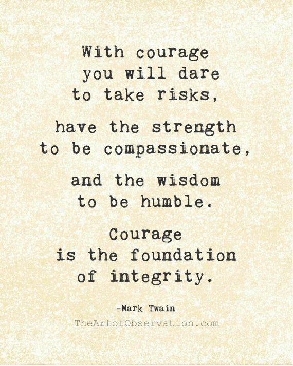 Courage- Mark Twain